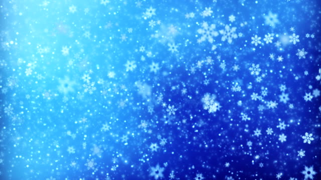 winter nature background loop - snowflake stock videos & royalty-free footage