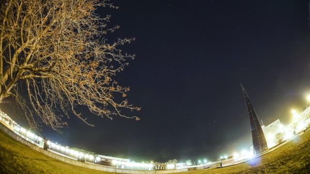 vídeos y material grabado en eventos de stock de winter night sky at narvik and aurora polaris - espacio y astronomía