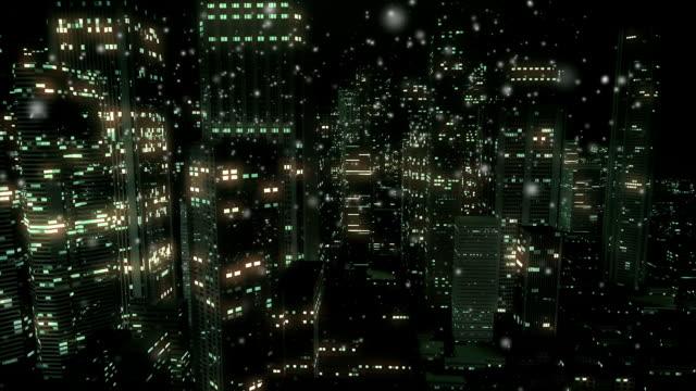 vídeos y material grabado en eventos de stock de vista de noche de invierno - virus