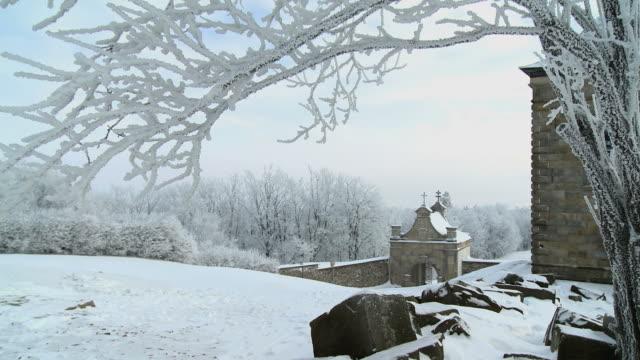 vidéos et rushes de hiver sur mointain - pèlerinage