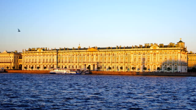 winter palace square in saint petersburg, russia - palace stock videos & royalty-free footage