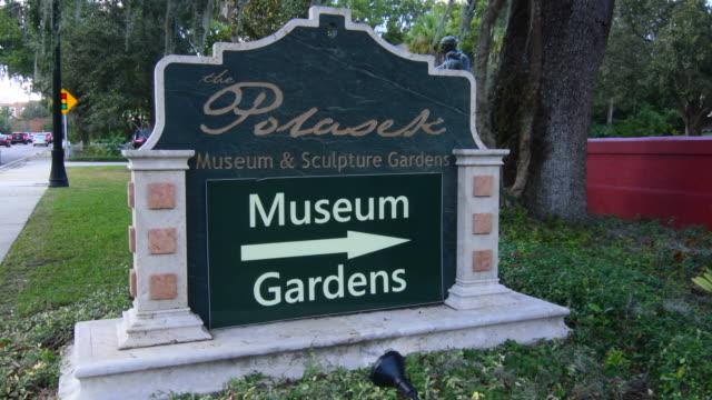 Winter Park Florida Polasek Museum of Albin Polasek Czech American Sculptor landscape signage 4K,
