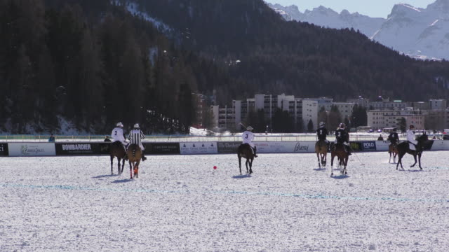 Winter Polo World Cup played on the frozen surface of Lake St Moritz in Switzerland on January 29 2016 NO
