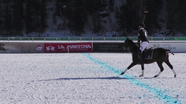 Winter Polo World Cup played on the frozen surface of Lake St Moritz in Switzerland on January 29 2016