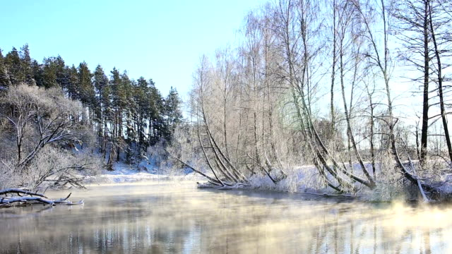 winter river at sunny day - robin day stock videos & royalty-free footage