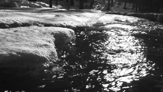HD Winter River in the Backlight (B&W) (4:2:2@100 Mb/s)