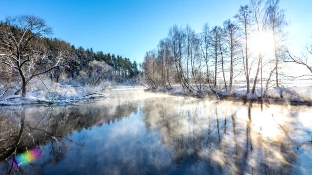 Winter river Landschaft