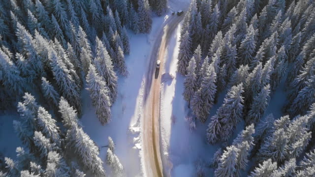 stockvideo's en b-roll-footage met de weg van de winter - sneeuwen