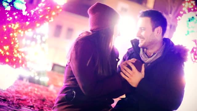 winterromantik. - lila stock-videos und b-roll-filmmaterial