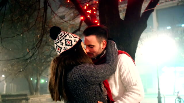winter romance. - cap stock videos & royalty-free footage