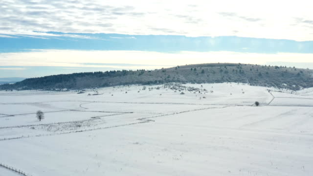 winter scene - plain stock videos & royalty-free footage