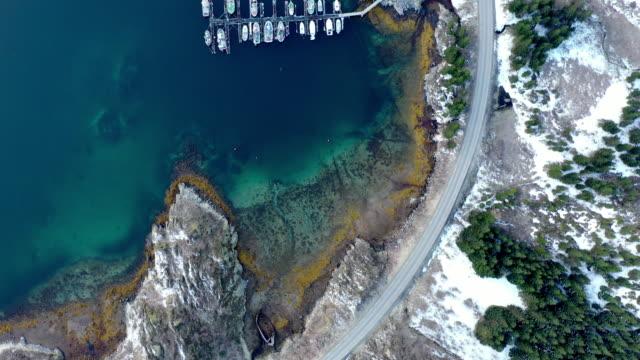 winter scenery of lofoten islands / norway - above stock videos & royalty-free footage