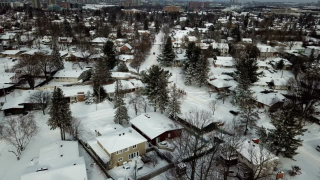 winter scenery of the toronto city from the bird eye. - town stock videos & royalty-free footage