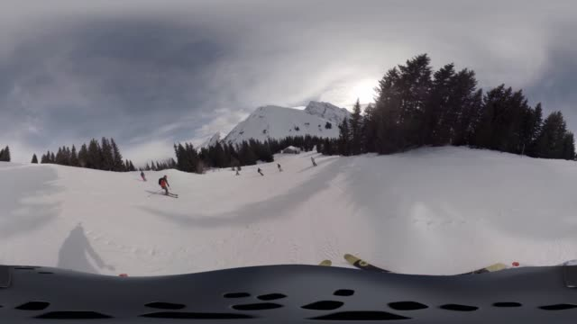 Winter Skiing in French Alps
