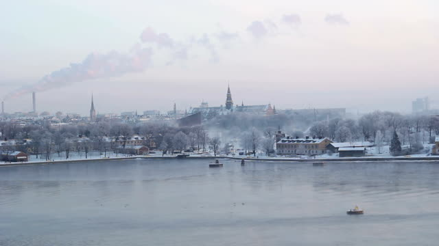 Winter skyline in Stockholm