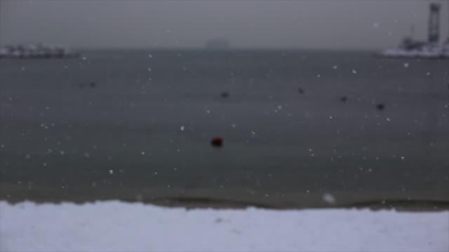 Winter snow beach