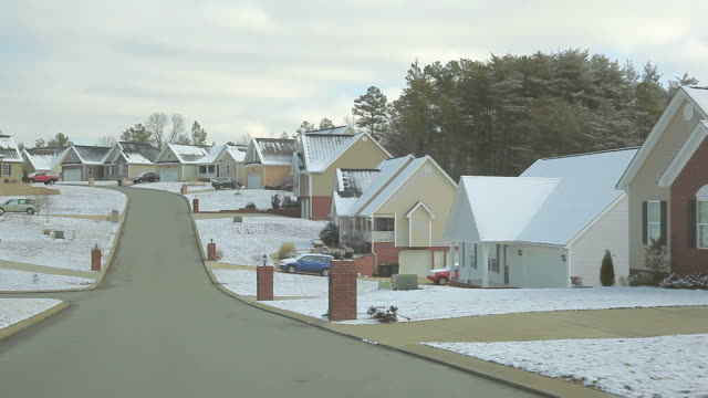 Winter Snow covered Home Building