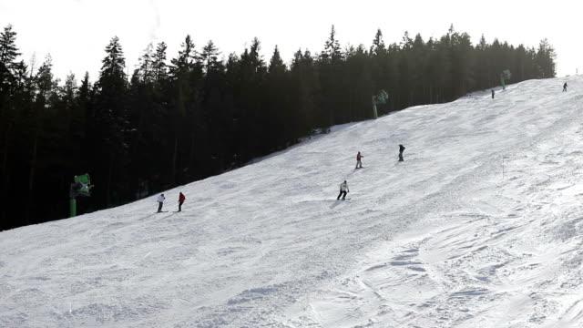 sport invernali in vacanza - bastoncino da sci video stock e b–roll