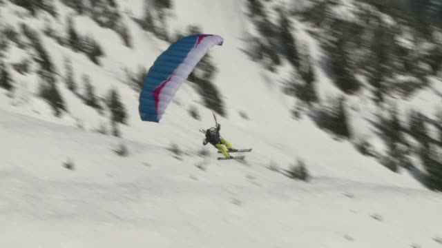 winter sports are more popular than ever longestablished pursuits such as monoskis and telemark skiing are back in fashion while some people are... - telemark stock videos and b-roll footage