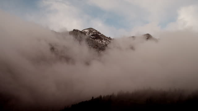 ws winter storm clouds rising storm / marble city, colorado, united states - colorado stock videos and b-roll footage