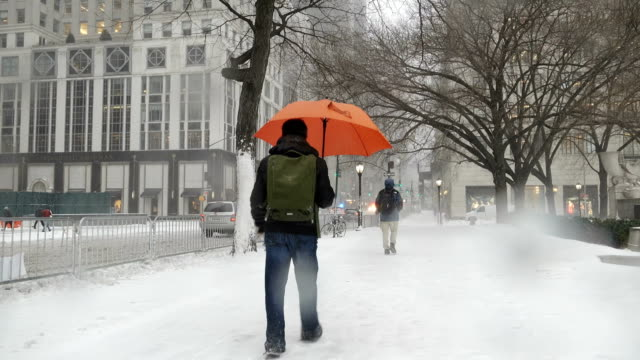 Winter storm Stella hits the Northeast of the United States / 5th Avenue – 59th Street Midtown Manhattan New York City USA