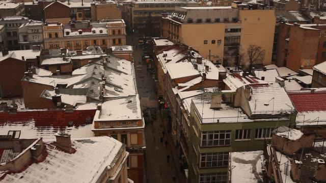 winter time in sarajevo - sarajevo stock-videos und b-roll-filmmaterial