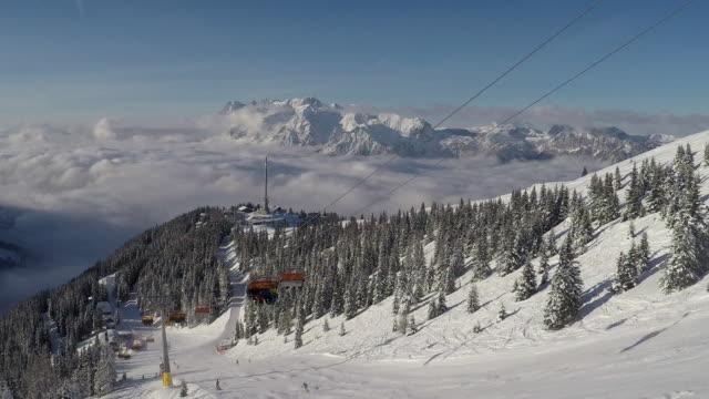 winter urlaub - dachstein mountains stock videos and b-roll footage