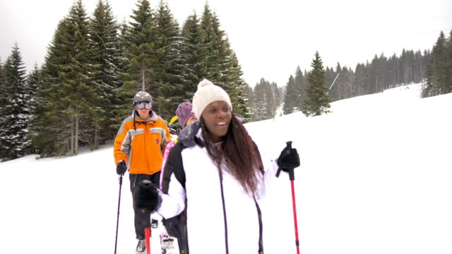 winter vacation - adaptive athlete stock videos and b-roll footage