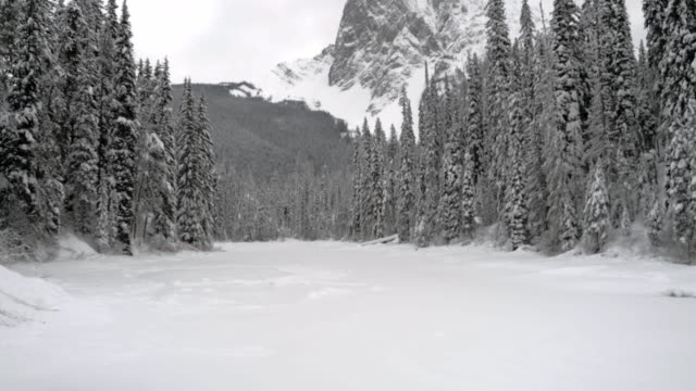 winter view of emerald lake - chinaface stock videos & royalty-free footage