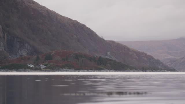 Winter views across Loch Etive, in the Scottish highlands.