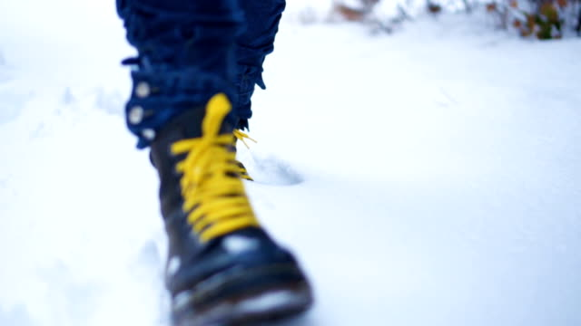 winter walk - yellow stock videos & royalty-free footage