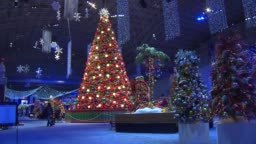 Winter Wonderfest At Navy Pier Giant Christmas Tree Lit Up At Navy Stock Footage Video