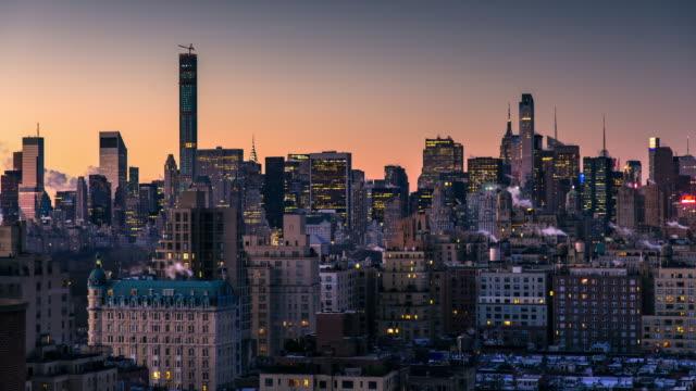 Wintry Manhattan Sunrise - Timelapse