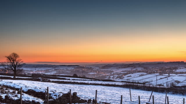 Wintry Rural West Yorkshire - Time Lapse