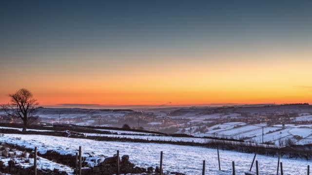 冬の農村ウェスト ヨークシャー - 時間の経過