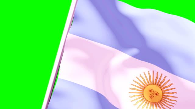 wipe übergangsflagge von argentinien 4k 60 fps - argentinische flagge stock-videos und b-roll-filmmaterial