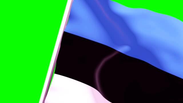vídeos de stock, filmes e b-roll de bandeira de transição de limpeza da estônia 4k 60 fps - cut video transition
