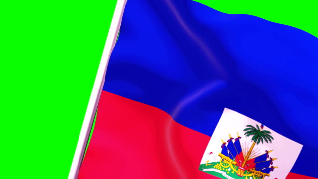 wipe transition flag of haiti 4k 60 fps - flag haiti stock videos & royalty-free footage