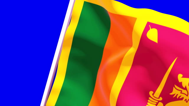 wipe transition flag of sri lanka 4k 60 fps - sri lankan flag stock videos & royalty-free footage