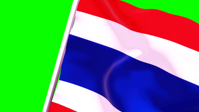wipe transition flag of thailand 4k 60 fps - cut video transition stock videos & royalty-free footage