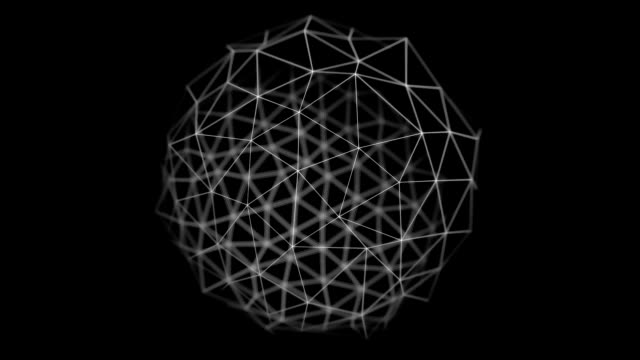 Wire geo sphere animation HD