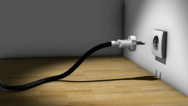 wire snake - plug socket stock videos and b-roll footage
