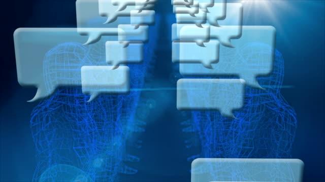 gitternetzlinien 3d zeichen zeigen soziales netzwerk - miteinander verbunden stock-videos und b-roll-filmmaterial