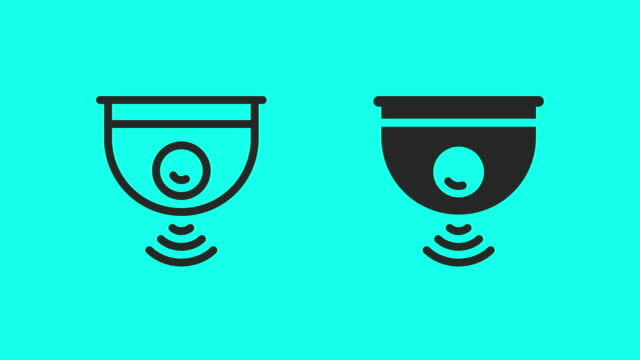 wireless camera icons - vector animate - webcam stock videos & royalty-free footage