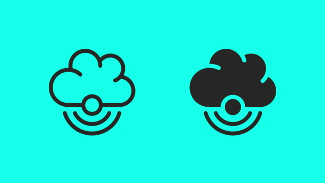 Wireless Cloud Computing Icons - Vector Animate