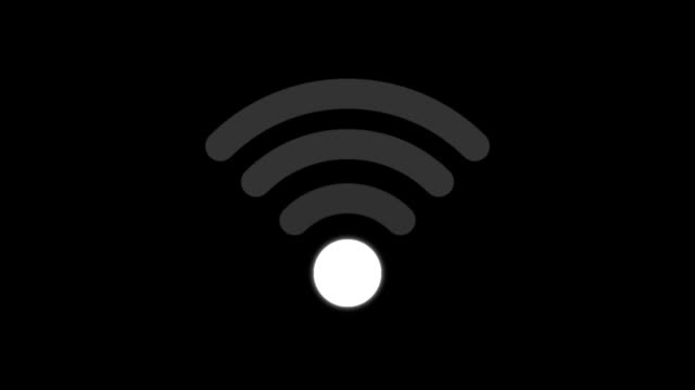wireless icon animation - alpha channel apple prores 4444 - loop - wireless technology stock videos & royalty-free footage