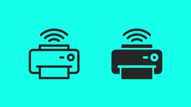 Wireless Printer Icons - Vector Animate