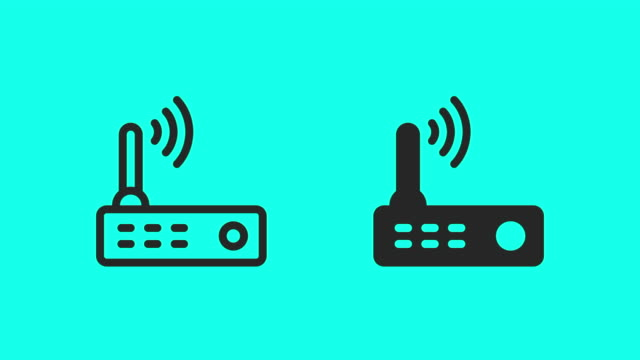 wireless router icons - vector animate - global communications vector stock videos & royalty-free footage