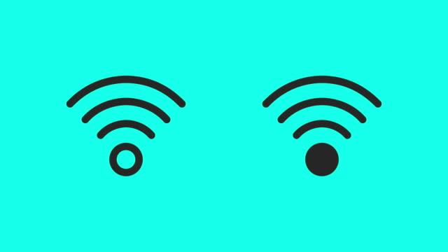 wireless symbol icons - vector animate - wireless technology stock videos & royalty-free footage