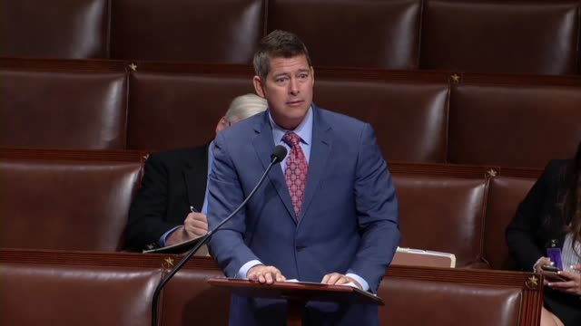 wisconsin congressman sean duffy says in debate on a bill to remove the gray wolf from the endangered species list to protect the pretty little puppy... - disegno di legge video stock e b–roll